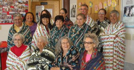 Elders present and honored with blankets and pillowcases